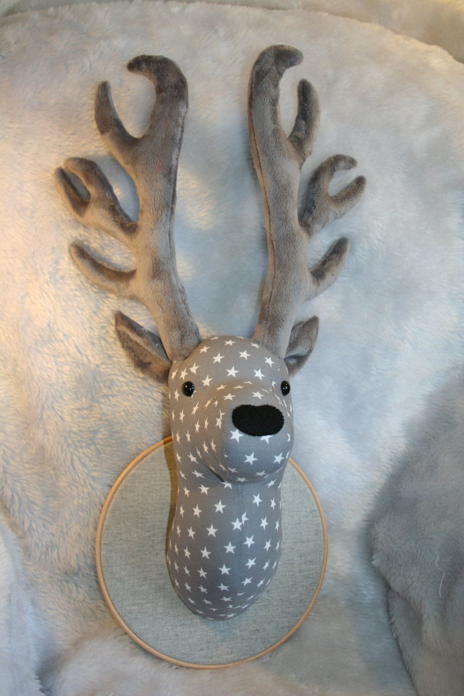 fabric deer head pattern