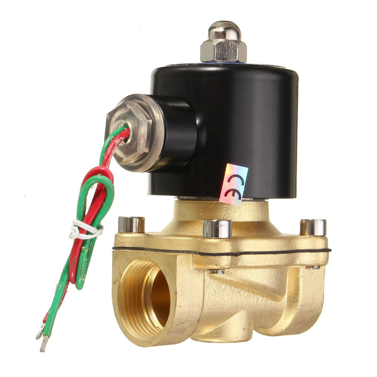 Electric Solenoid Valve Water Air N C 2 Way 1 4 Ac 220v 2w025 08 Brass Body Dc12v 24v Ac110v 220v Brass Water Valve Water Valves Electricity Brass