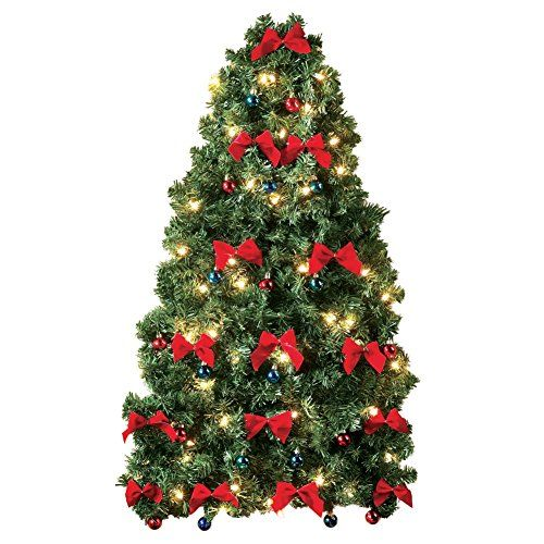 Lighted Christmas Wall Tree The Simplest Way To Decorate Wall Christmas Tree Hanging Christmas Tree Traditional Christmas Tree