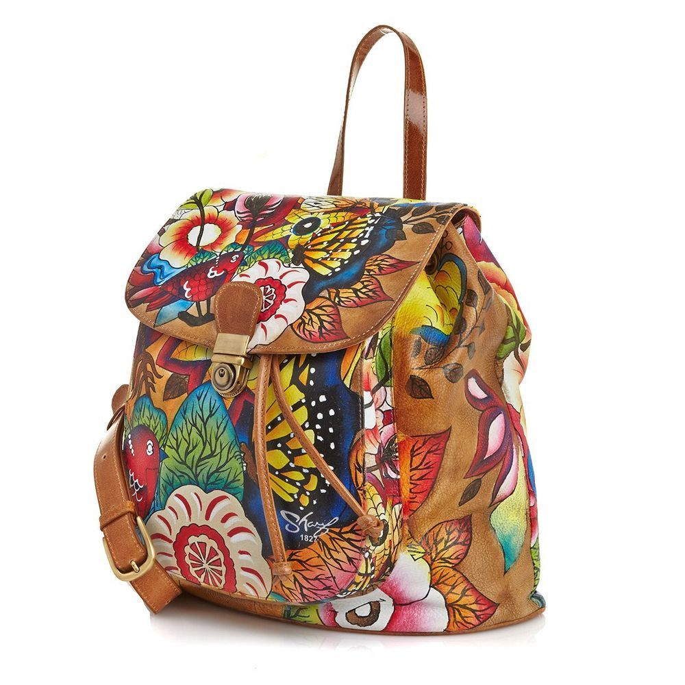 Sharif Limited Edition Leather Hand Painted Bohemian Floral