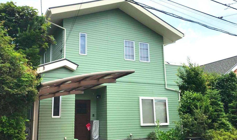 緑の事例画像13選 プロが勧める 外国風の理想的な外壁にするコツ 外壁塗装 色 緑 塗装 工事