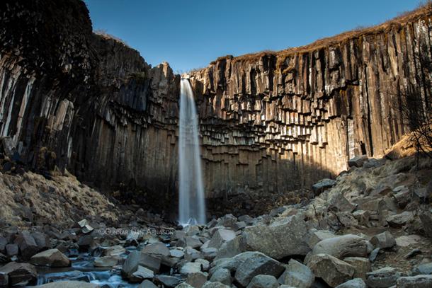 The Black Waterfall by Gunnar Orn Arnsason
