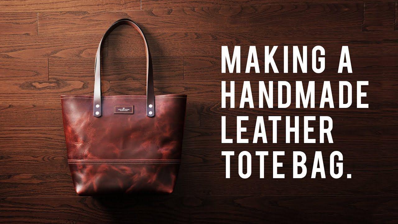 MAKING A HANDMADE LEATHER TOTE BAG - DIY BUILD ALONG - ASMR,  #ASMR #bag #Build #DIY #handmade #leather #Making #tote,  #DiyAbschnitt, Diy Abschnitt,