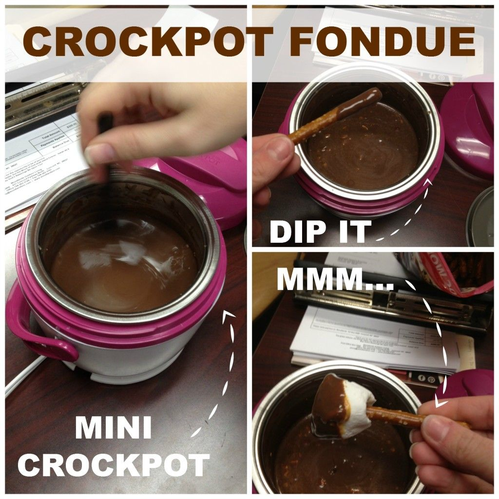 CrockPot Fondue {Things That Happen When Business Is Slow