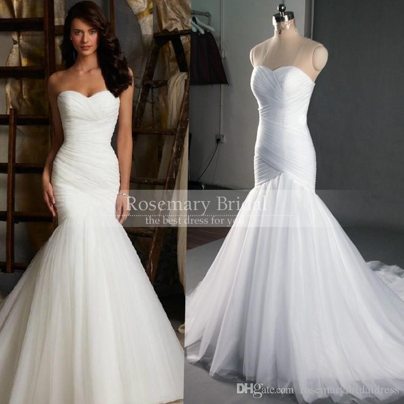 Wedding Bridal Dresses Cheap Dress High Quality Mermaid Long Organza Real Photo Gown