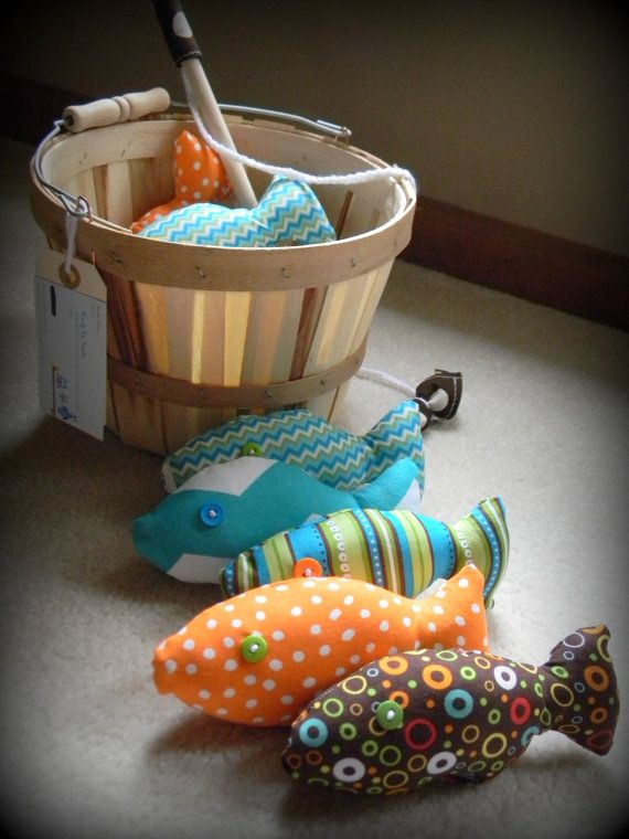 Magnetic Fishing Game c Fun by TrendyTotsTextiles on Etsy, $30.00