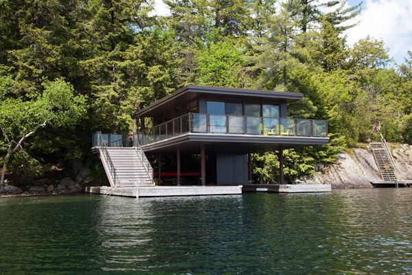 Modern Boathouse Design Boathouse Design Riverside House House