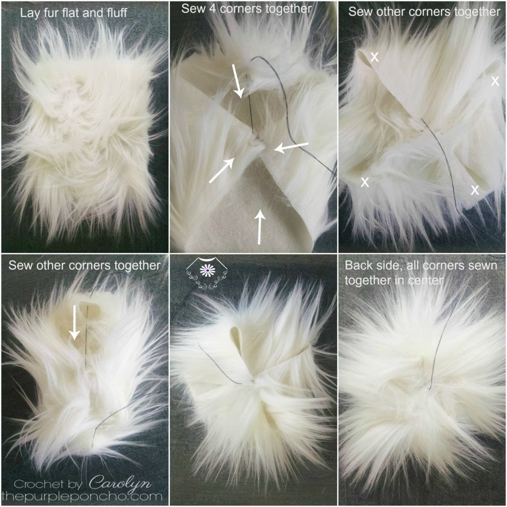 7d08ccc5464 A tutorial on you how to make your own fur pom poms! Fur pom poms on  garments are really on trend right now. I ve seen them on almost everything  from ...