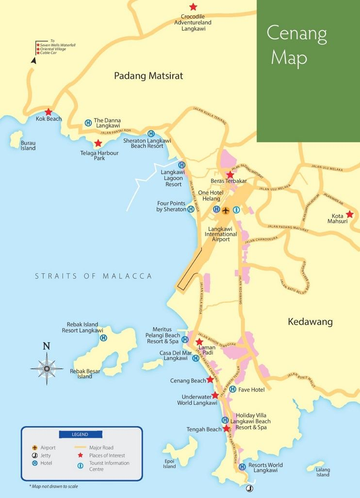 Pantai Cenang tourist map Maps Pinterest Tourist map and Malaysia