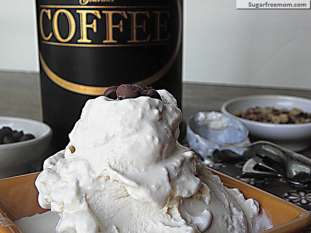Low Sugar Ice Cream Cake Recipes: Healthier Low Carb Coffee Ice Cream (Egg & Sugar Free