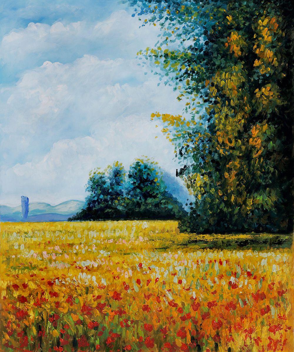 Monet Reproduction: Champ d'Avoine (Oat Fields
