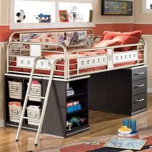Teen Bunk Beds Kids Boys Teen Metal Twin Low Loft Bed With Drawer