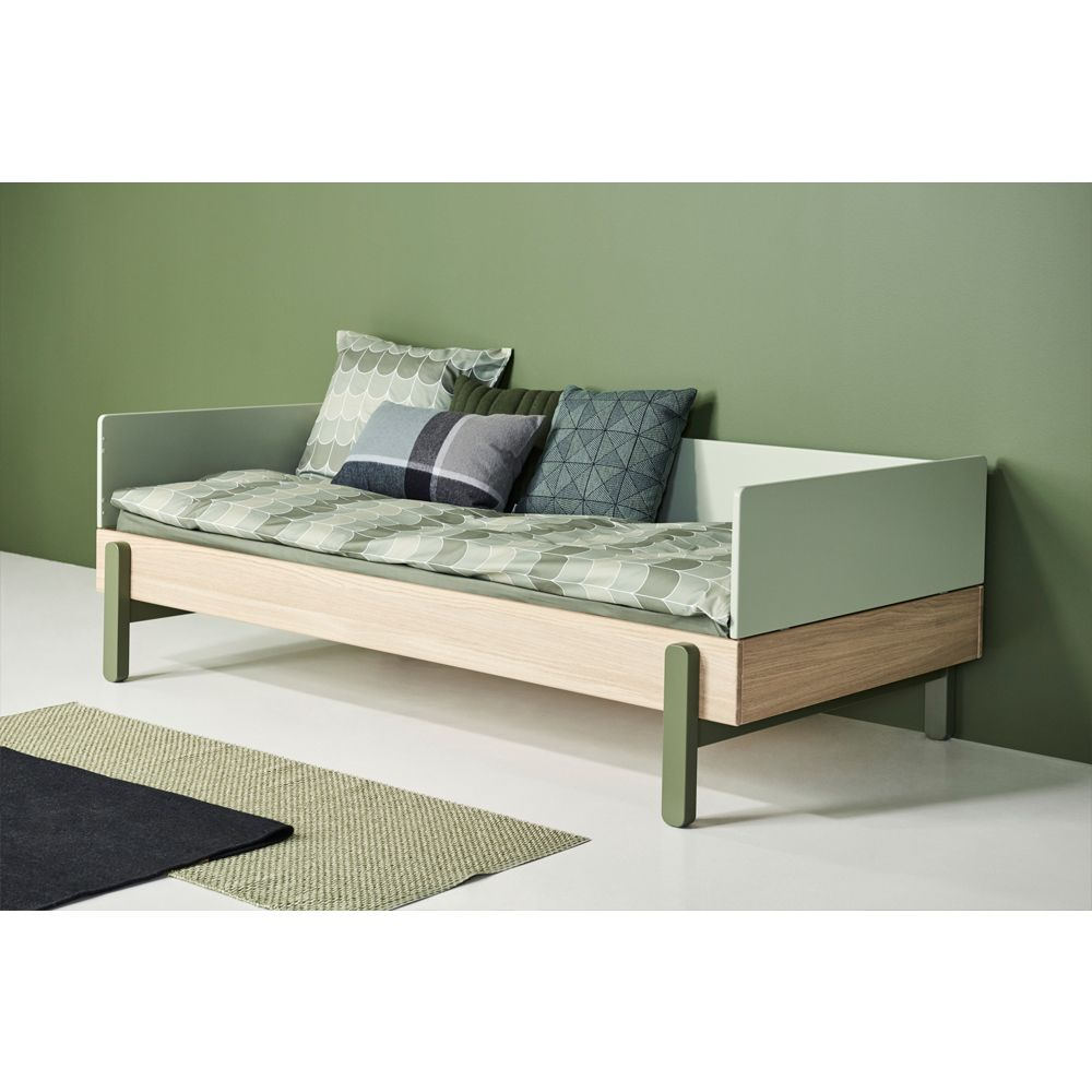 Popsicle Oak Bed With Bed Head And Foot 90x200cm Product Bed Bed Ontwerpen Kindermeubilair