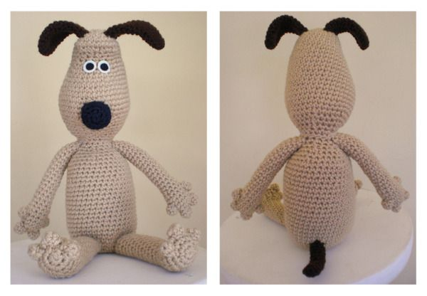 Gromit the Dog - Free Amigurumi Pattern http://www.amiamour.com/2010 ...