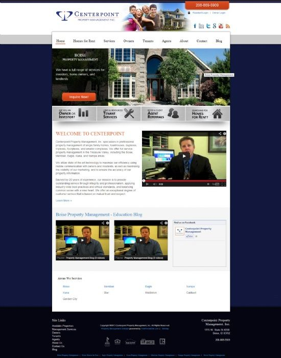 New Website Centerpoint Property Management Boise Id Http Www Centerpointboise Com Designed By Http Property Management Rental Application Property