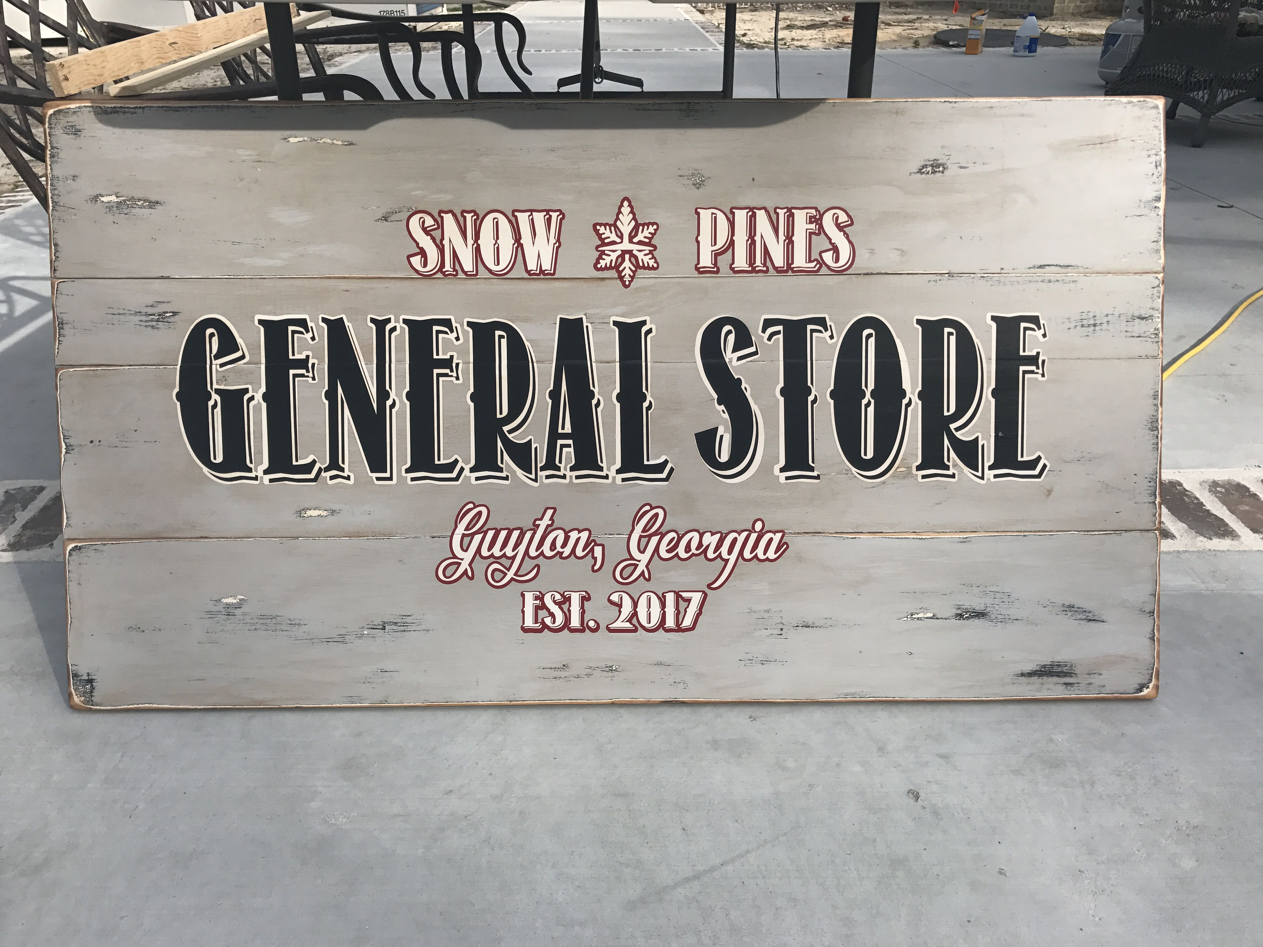 DIY wooden sign. General store, pantry sign, farmhouse sign.