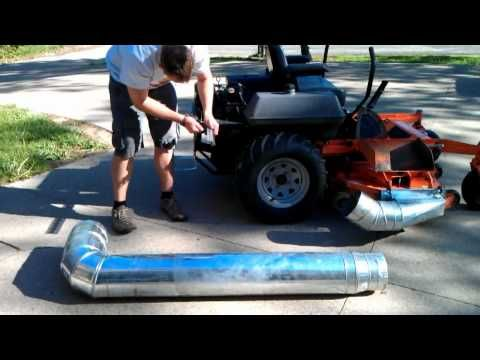 Hillbilly Bling Homemade Leaf Vacuum Attachment Diy Lawn Riding Lawn Mowers Lawn Tractor