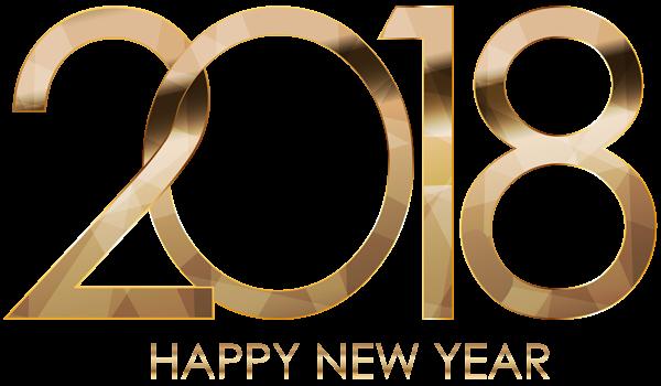 2018 Happy New Year Gold Happy new year 2018, New year