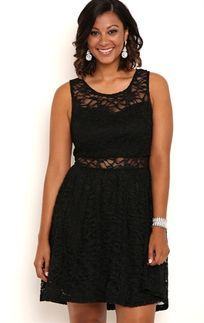 Curvy Lace Dress Formal Dress