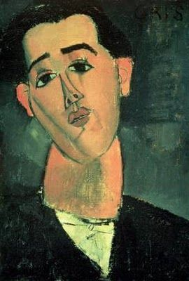 Amedeo Modigliani: Portrait of Juan Gris. 1915. Oil on canvas. 55.5 x 38 cm