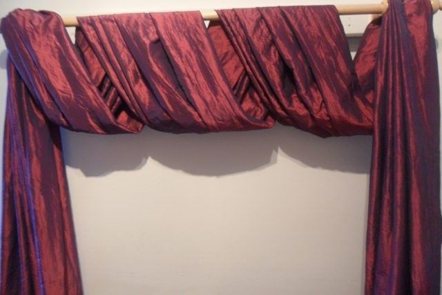 Superb Curtains Design Needs: The Second Great Way To Hang Your Scarf Swag Curtains