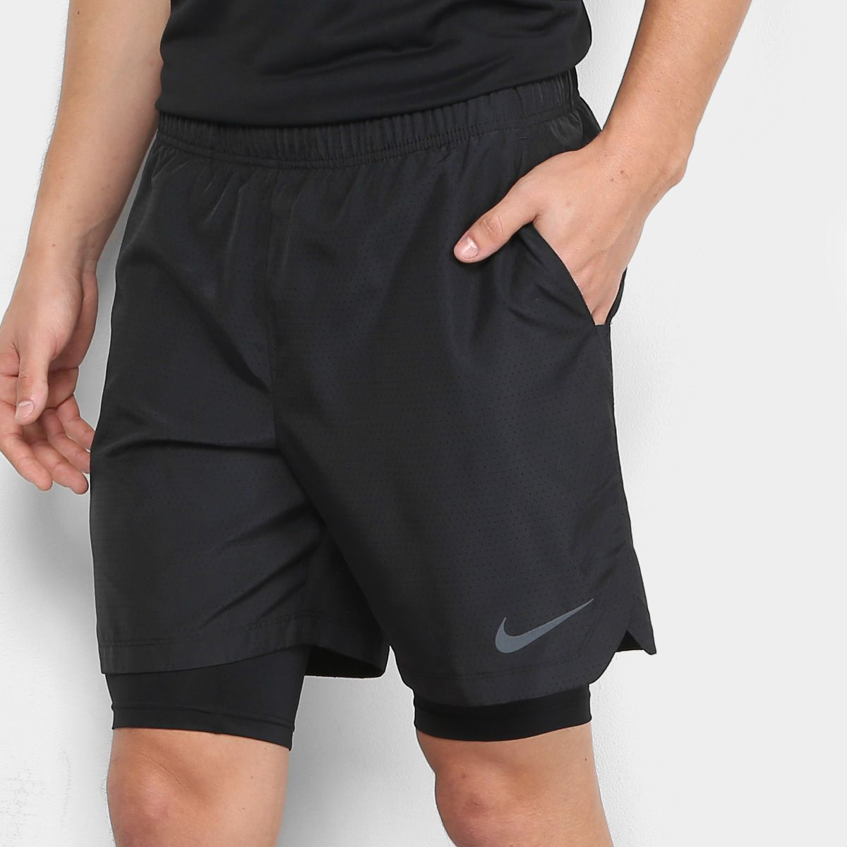comprar oficial unos dias brillo encantador Bermuda Nike Challenger 2 em 1 7