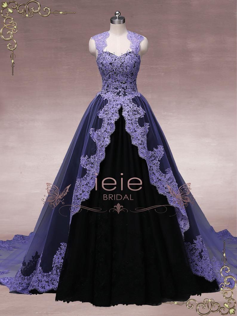 Unique Purple Black Ball Gown Wedding Dress Halloween Wedding Dress Gothic Wedding Dress October Black Ball Gown Ball Gown Wedding Dress Wedding Dresses Unique [ 1059 x 794 Pixel ]