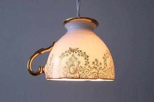 tea cup light= so cute!