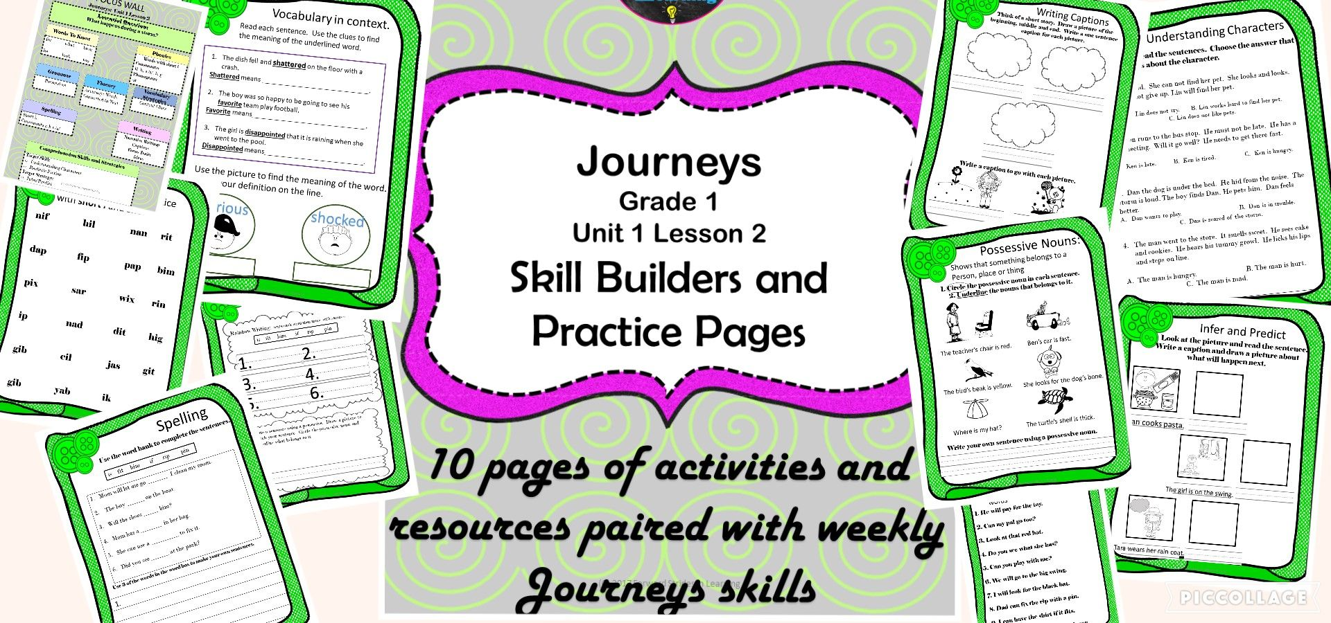Journeys Based Activity Pages And Skill Builders Grade 1
