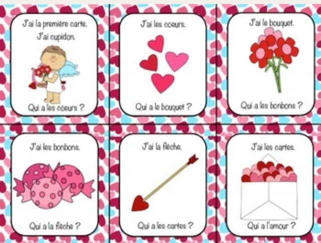 FREE Le Jour de St Valentin Acrostic Poem and Virtual Greeting – French Valentines Cards