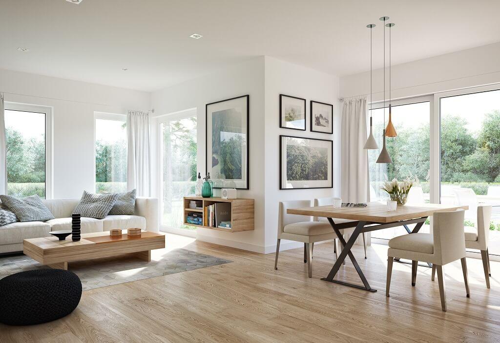 Wohnzimmer Ideen Mit Essbereich   Inneneinrichtung Haus Edition 3 V2 Bien  Zenker   HausbauDirekt.de