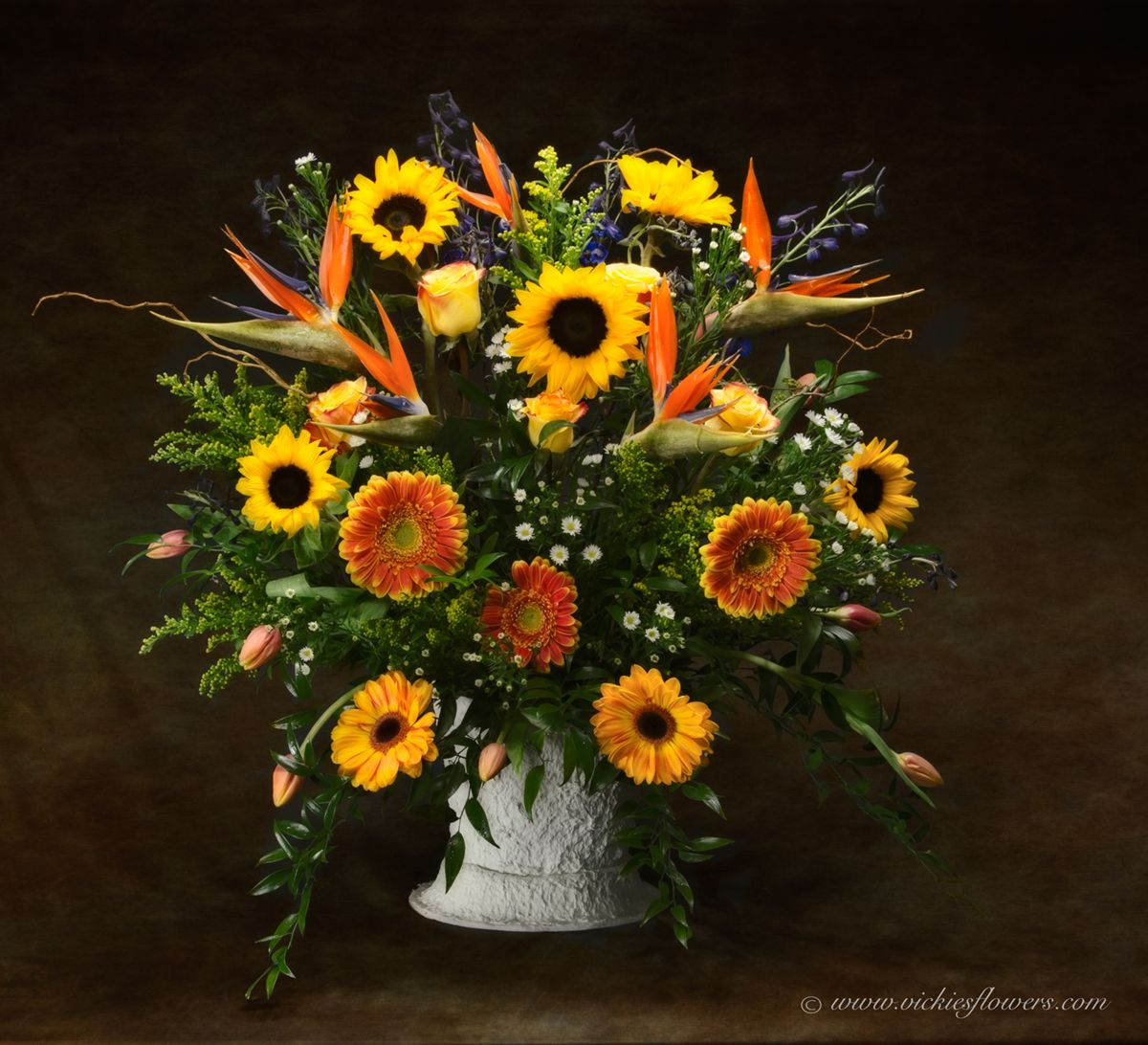 Funeral Flower Arrangement By Brighton Co Florist Vickies Flowers