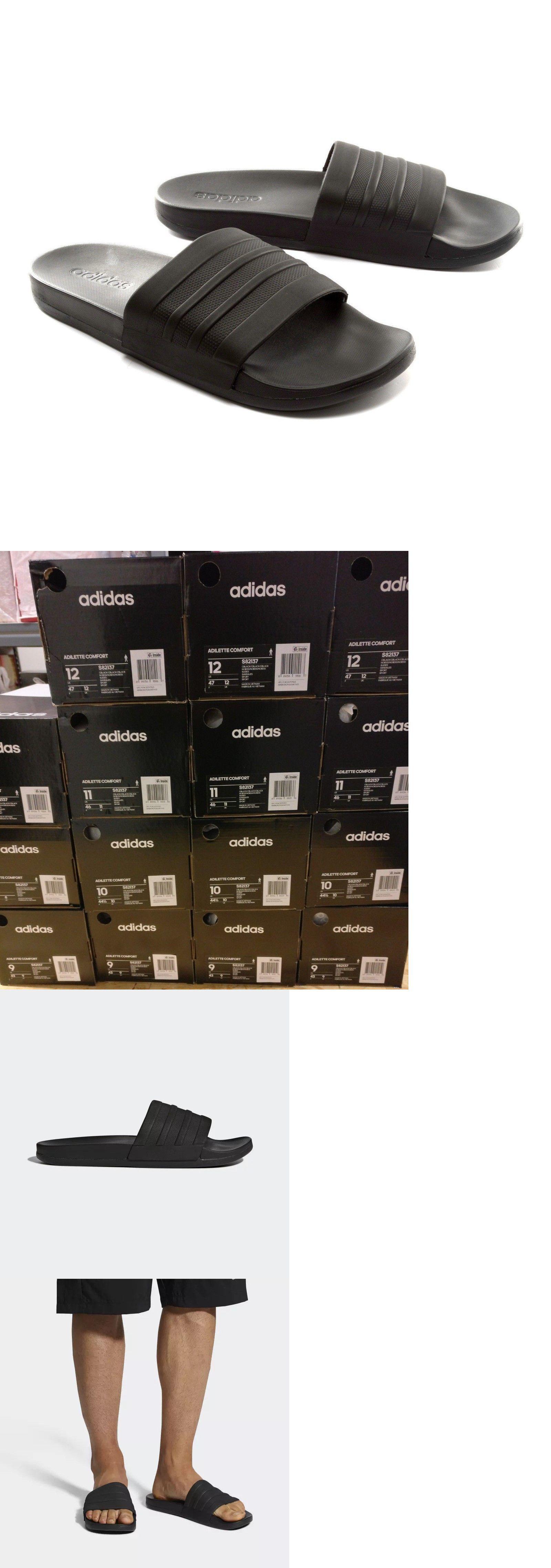 c8b44b77eaea Sandals 11504  Adidas Adilette Cloudfoam Plus Mono Slides Sz 8