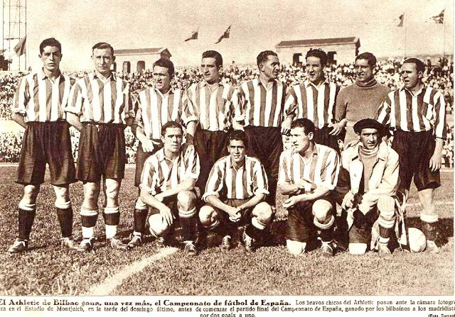 ATHLETIC CLUB DE BILBAO contra Real Madrid 25/06/1933