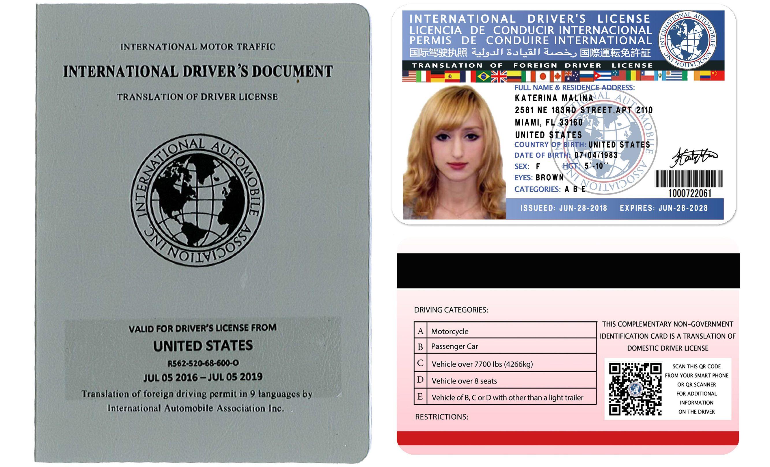 International Driving Licence International Drivers Licence
