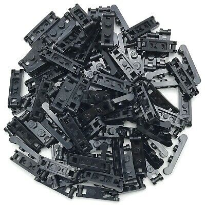 Lego Lot of 100 New Black Plates Modified 1 x 2 with Handle on End Pieces