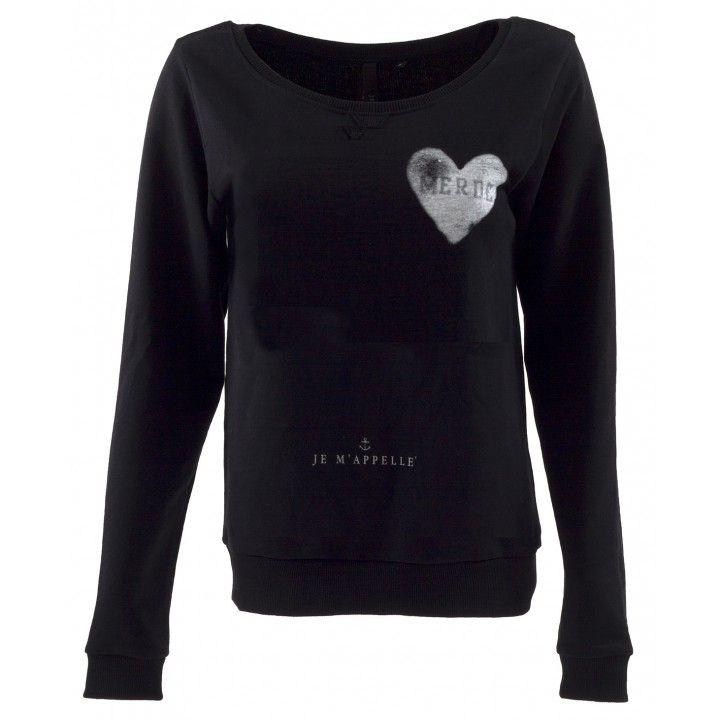 Heart Sweater - Black