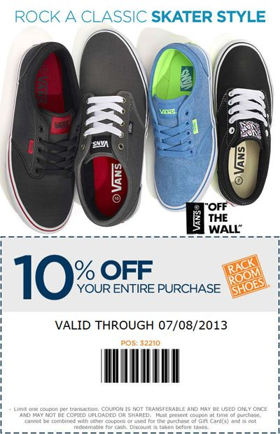 Check Out Vans Off The Wall Styles 10 Off Coupon At Rack Room Shoes Vans Off The Wall Vans Rack Room Shoes