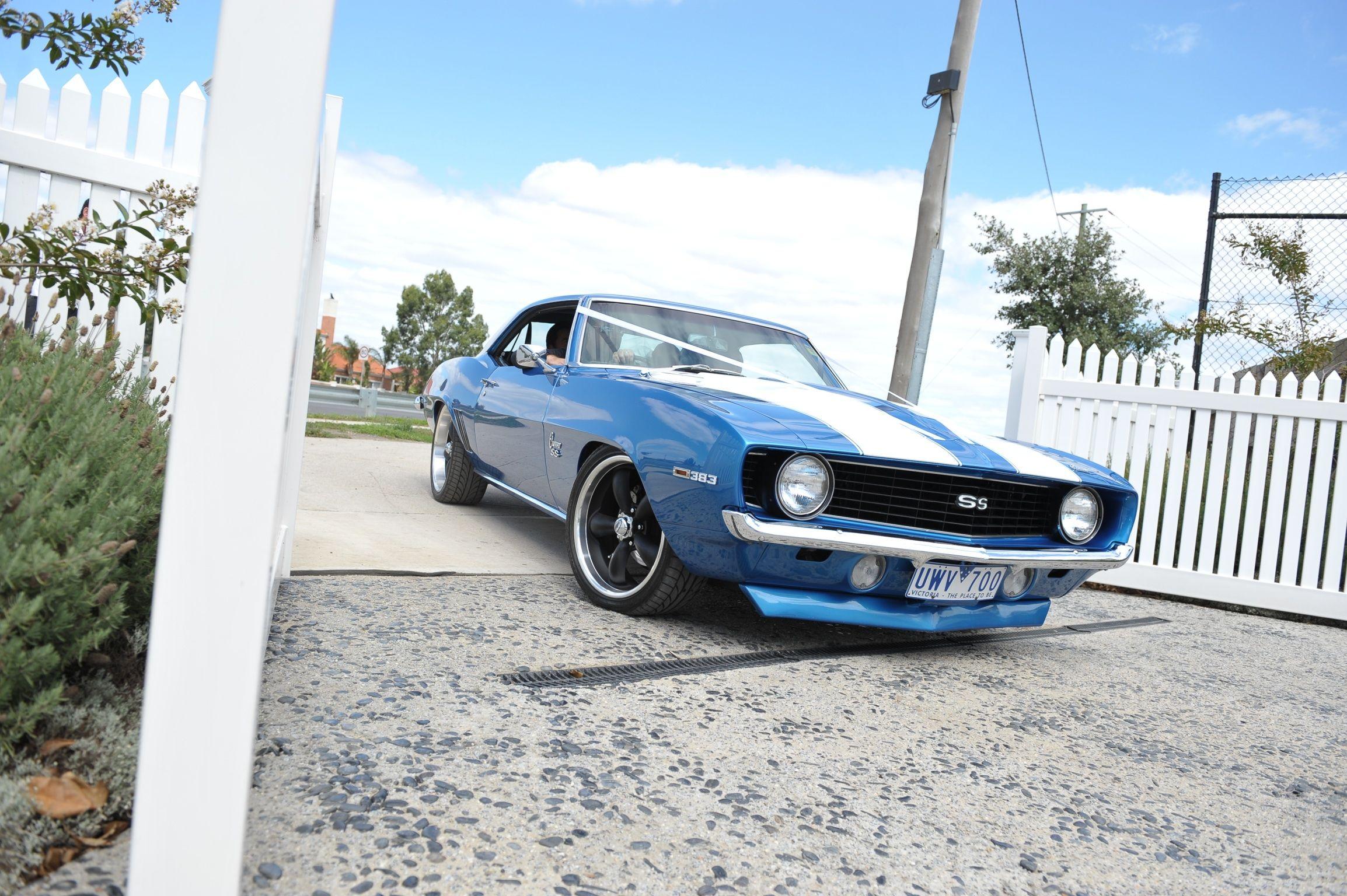 Blue 69 Camaro, classic muscle car modern wedding car | Superb ...