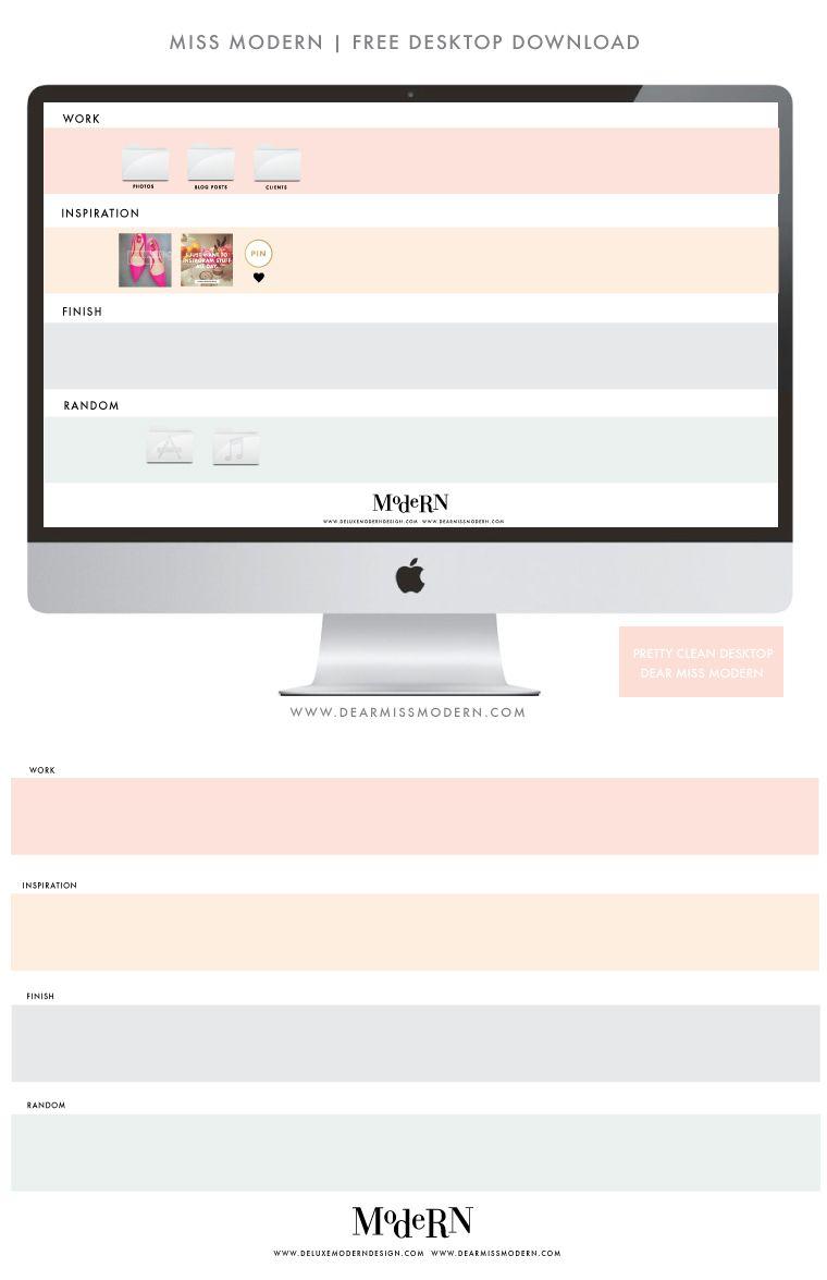 Dear Miss Modern Desktop Wallpaper Organizer Desktop Design Desktop Organization