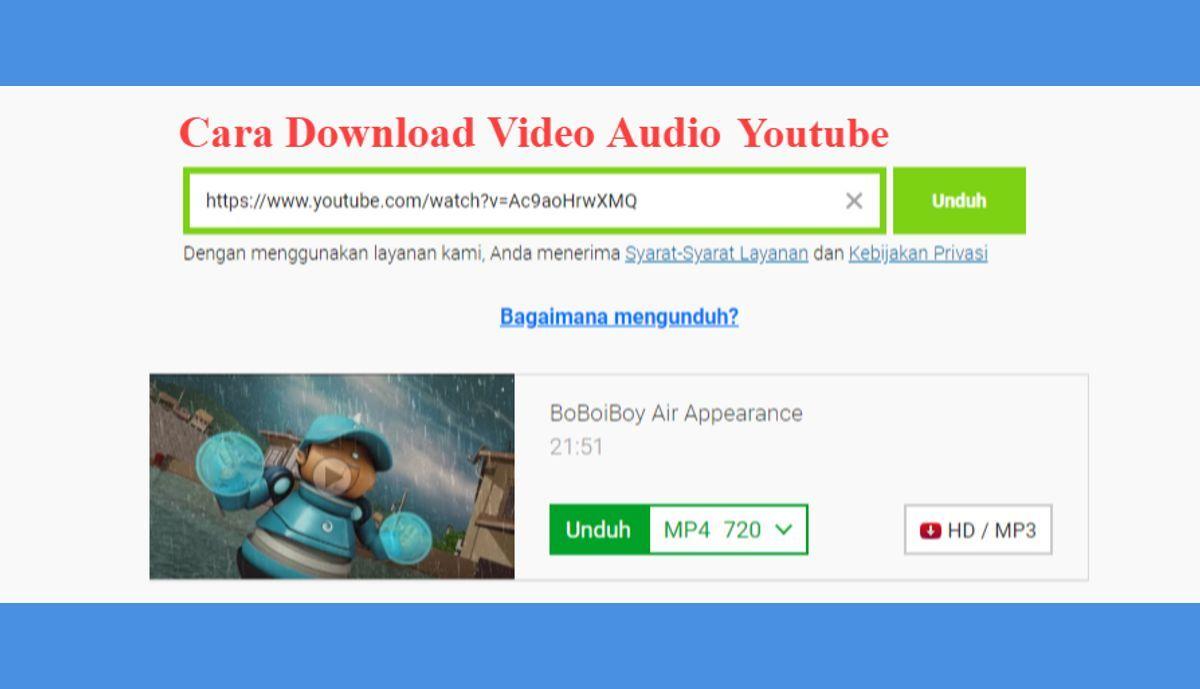 Begini Download Video Audio Youtube Tanpa Aplikasi Youtube Downloader Di 2020 Video Youtube Musik