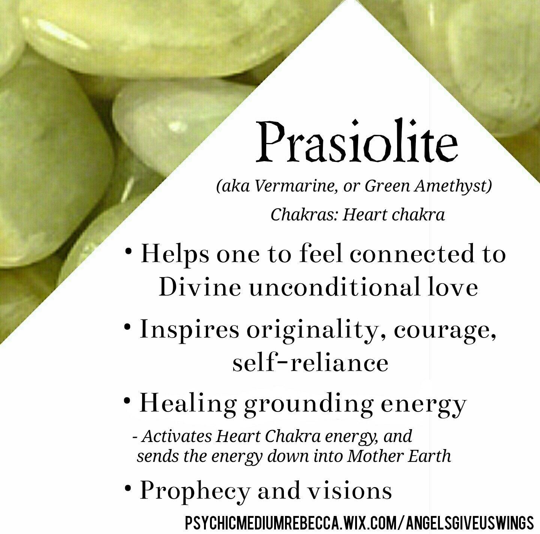 Prasiolite crystal meaning piedras naturales pinterest - Propiedades piedras naturales ...