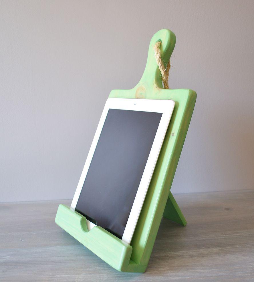 Wood Cutting Board iPad Stand - $35