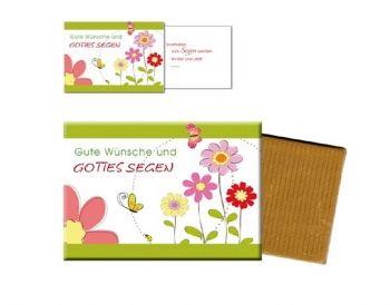 Gute #Wünsche und #GottesSegen - #Schokolade mit #Grußkarte bei #LOGO