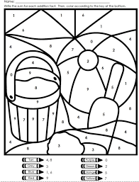 Easy Color By Number For Preschool And Kindergarten Kindergarten Colors Math Coloring Summer Coloring Pages