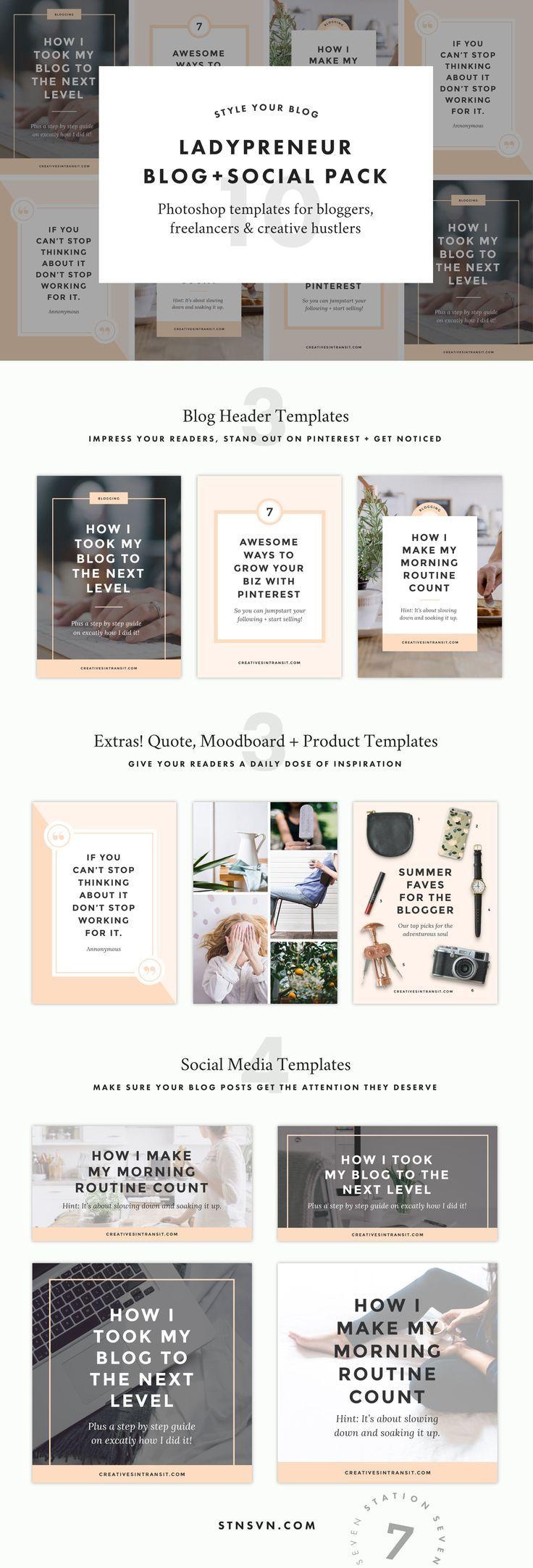 Monstera Blog Pack | Header, Template and Blog