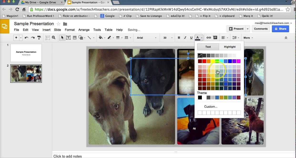 How To Add A Custom Background To Google Slides Video From Free Tech For Teachers Google Slides Google Documents Google Tools