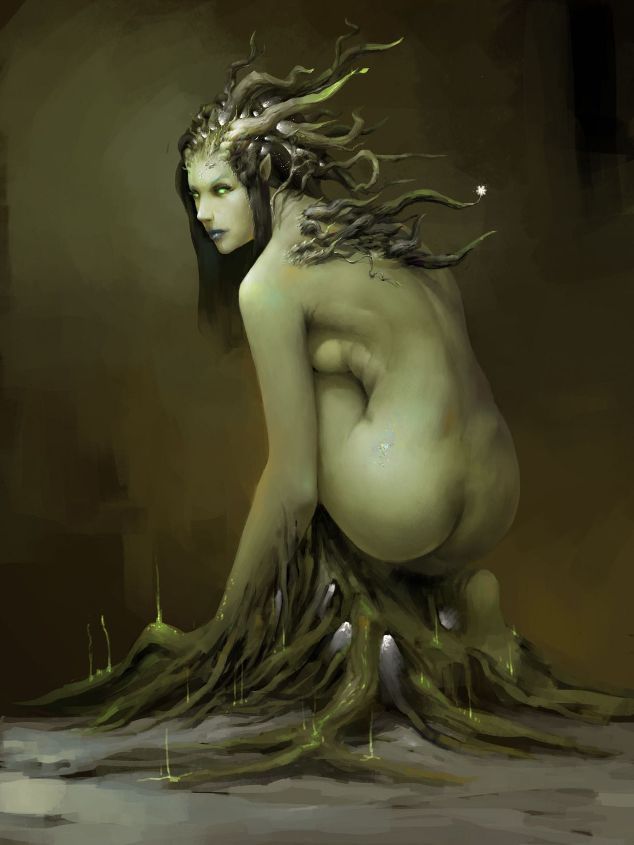 """quarkmaster: """"Untitled Dryad by liang gong """""""