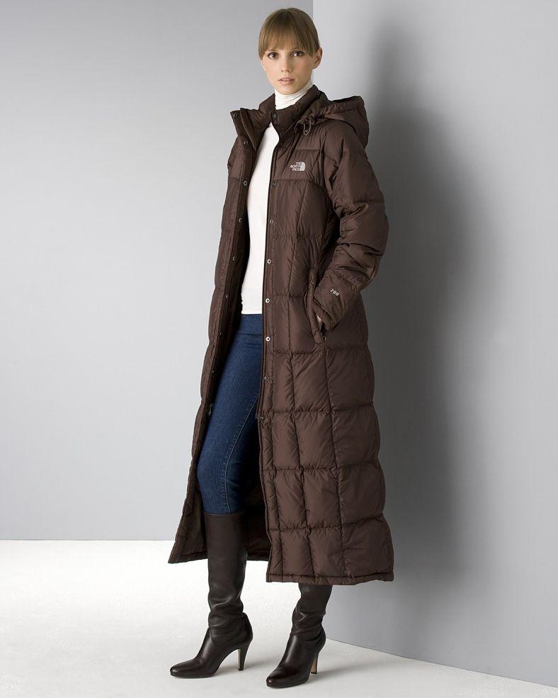 north face womens long winter jacket
