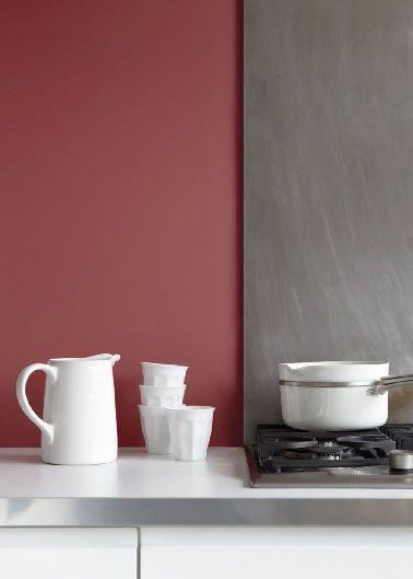 Couleur peinture cuisine marsala lie de vin Tollens Flamant Walls